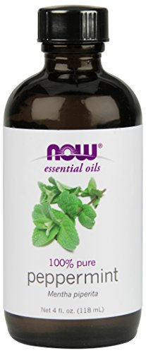 NOW 100% Pure Peppermint Essential Oil, 4-Ounce