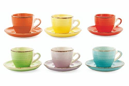 17 opinioni per Villa d'Este Home Tivoli 2171741 Baita Set Tazzine Caffè con Piattino, Ceramica,