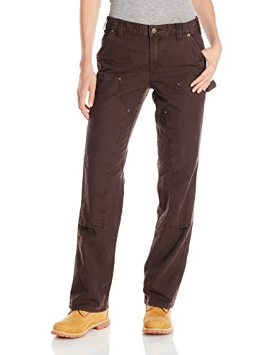 Carhartt Women's Original Fit Crawford Double Front Pant, Dark Brown, 8 Carhartt Womens Work Pants