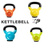 BFIT USA AB6035-6 Vinyl Dipping Kettlebell with Rubber Base