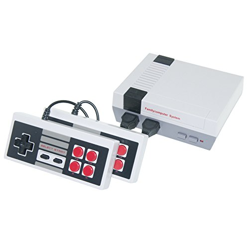 IWLY Mini Classic Retro 80s Video Game Console Old School TV games Syetem Built in Classic 500 Games Dual Game Controller