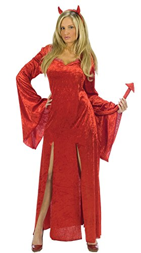 [GTH Women's Sultry Devil Demon Theme Party Halloween Fancy Costume, Medium/Large (8-14)] (Cheap Ladies Devil Costume)