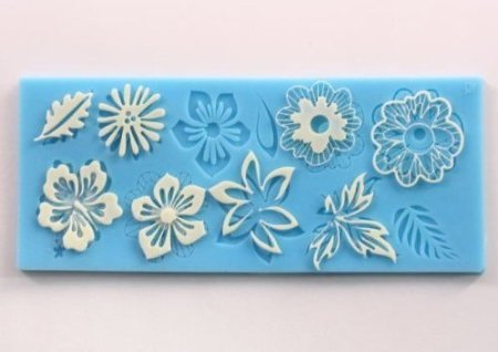 Clay Lace - Silicone Flower leaf Embossing Lace Fondant Mould Cake Decoration Mould Polymer Clay Resin Molds
