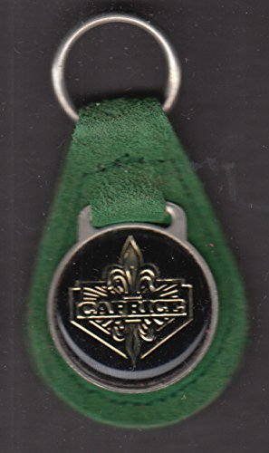 - Chevrolet Caprice green suede leather key fob 1970s unused