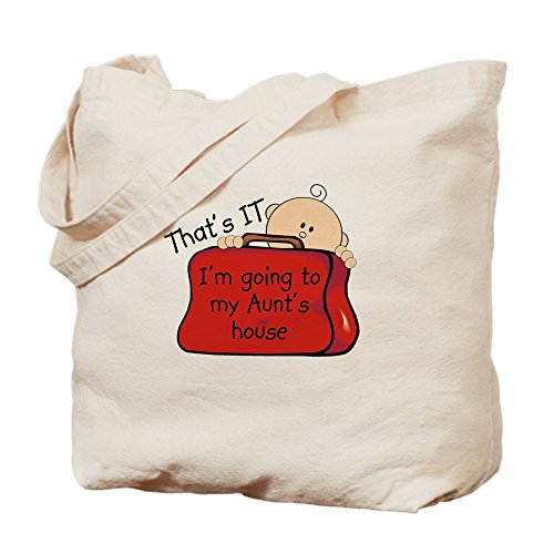 CafePress - Aunts House Funny - Natural Canvas Tote Bag, Cloth Shopping Bag