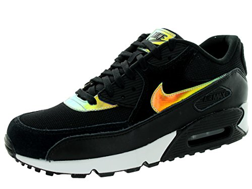 Nike Mens Air Max 90 Premium Black/Black/Black/Ivory Running Shoe 13 Men US