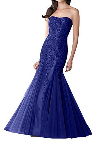 Partykleider Hochwertig Trumpet Blau Brau Damenmode Abschlussballkleider mia La Meerjungfrau Promkleider Abendkleider Spitze Royal Z067fEwqE