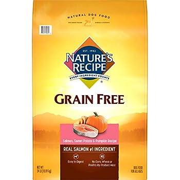 Nature'S Recipe Grain Free Easy To Digest Dry Dog Food, Salmon, Sweet Potato & Pumpkin Recipe, 24-Pound