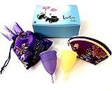 Luna Cup Menstrual Cup Set of 2 - 1 Small 1 Large Feminine