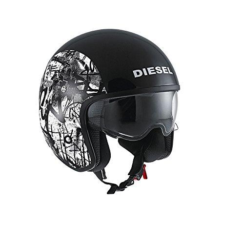 AGV Helmets HI-Casco Jet Jack Diesel E2205 de Graffiti, Multicolore (Noir/Vert), talla XS: Amazon.es: Coche y moto