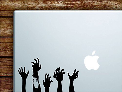 Zombie Hands Laptop Apple Macbook Quote Wall Decal Sticker Art Vinyl Inspirational Motivational Walking Dead Scary Halloween Cool Teen]()