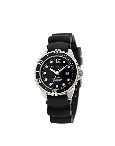 Women's Quartz Watch M1 Mini by Momentum Sapphire Crystal Steel Watches for Women Dive Watch with Japanese Movement & Analog Display Water Resistant ladies watch with Date –Black