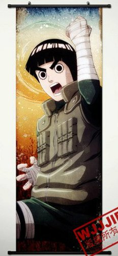 Naruto Home Decor Rock Lee Cosplay Wall Scroll Poster 49.2 X