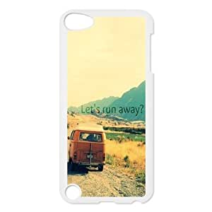Custom Colorful Case for Ipod Touch 5, Let's Run Away Cover Case - HL-496504
