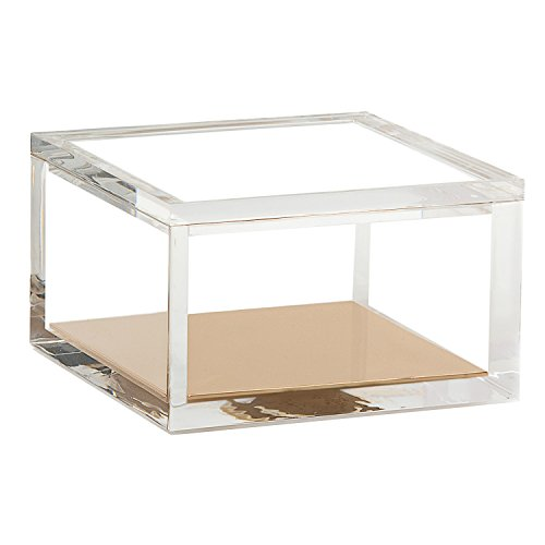 Acrylic & Gold Odds & Ends Box by OfficeGoods - A Classic Modern Design to Brighten Up Your Desk  Elegant Office Accessory