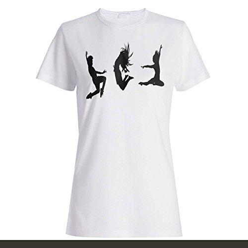 Tanz Musik Spaß Gute Lebensstil Lustige Neuheit Neu Damen T-shirt k53f