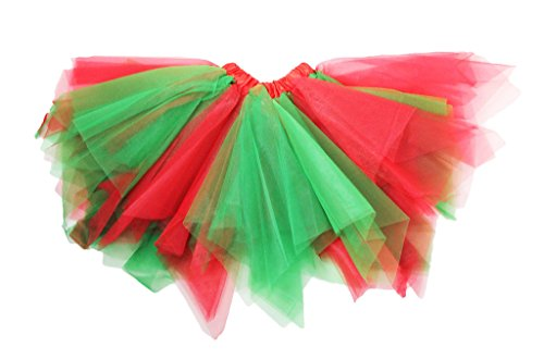 Dress Up Dreams Boutique Holiday Themed Red & Green Fluffy Dance -