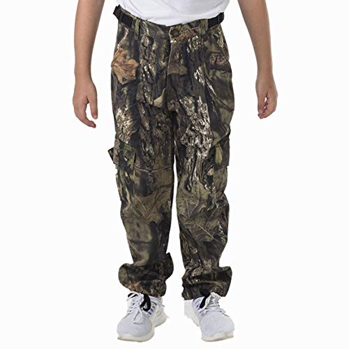 TrailCrest Youth Kids Camo Hunting Cargo Pants | 6 Pockets | Mossy Oak Break-Up Country