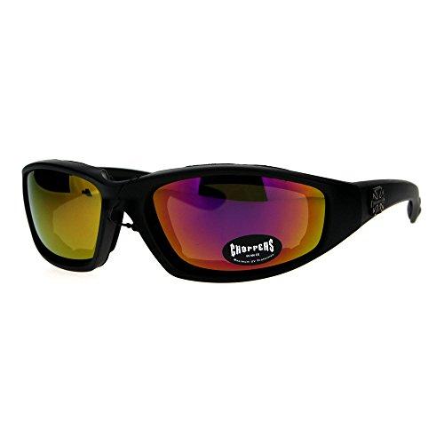 - Choppers Foam Padded Biker Wind Breaker Motorcycle Riding Sunglasses Purple Mirror
