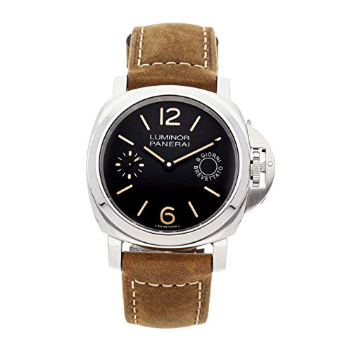 Panerai Luminor Mechanical (Hand-Winding) Black Dial Mens Watch PAM 590 (Certified Pre-Owned)