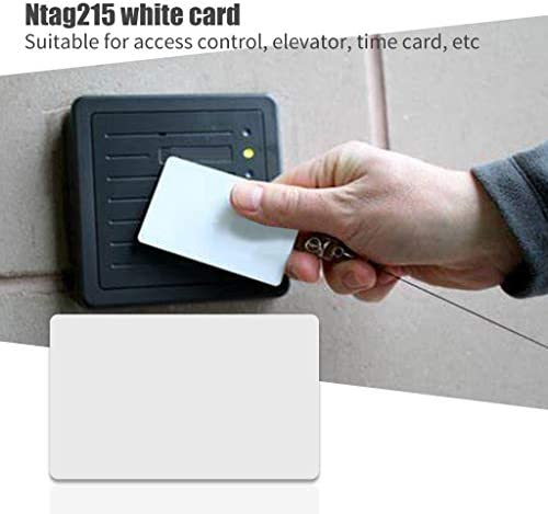 jiheousty 10PCS NTAG215 Nicht druckbare NFC-Tag-Karten Wiederbeschreibbare weiße Leere Smart Durable-Karte