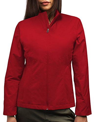 SCOTTeVEST Jacket - Travel Clothing, Outerwear for Women, Jackets for Women (RED, M)