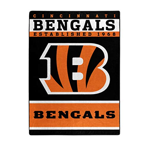 The Northwest Company Officially Licensed NFL Cincinnati Bengals 12th Man Plush Raschel Throw Blanket, 60