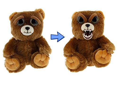 William Mark Feisty Pets Sir Growls-A-Lot- Adorable Plush Stuffed Bear that Turns Feisty with a Squeeze, 8.5