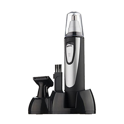 EDTara 2 in 1 Portable Battery Powered Ear & Nose Hair Trimmer Facial Hair Shaver Cleaner
