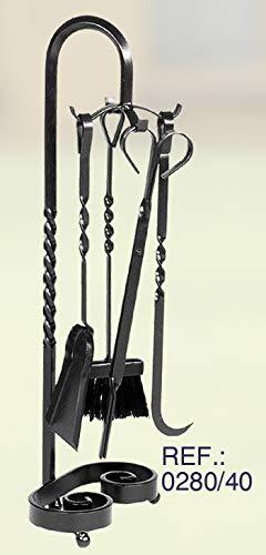 Juego de accesorios para chimenea modelo 0280 Rustiluz