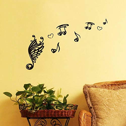 Dalxsh Music Note Scale Treble Clef Music Wall Sticker DIY Wall Art Self Adhesive Vinyl Quotes Decals for Kids Room Mural Home Decor -