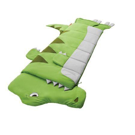 Super Cute,Fun and Adorable OZARK TRAIL KIDS BREATHABLE SLEEPING BAG-DINOSAUR,24'' x 62'',Perfect for Sleepovers,Camping,Naps and Playtime,Green/White