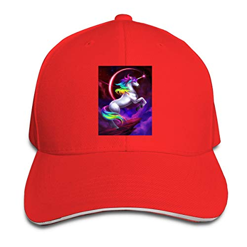 Light Up Glitter Unicorn Collectible Baby Pet Unisex Adjustable Baseball Hat Red Hat ()