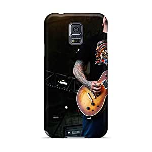 Scratch Resistant Hard Cell-phone Cases For Samsung Galaxy S5 (soY8834YPpT) Support Personal Customs High Resolution Rise Against Series