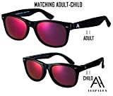 Ali&Alex Adult + Junior Matching Pairs - Classie Square Frame UV Polarized Designer Sunglasses