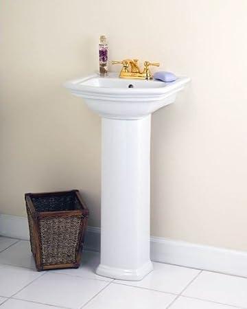 Good Barclay Washington 460 4 Inch Centerset Vitreous China Pedestal Sink