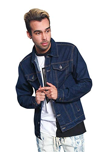 Victorious Non-Distressed Essential Denim Jacket DK148 - Raw Blue - Small - H14E