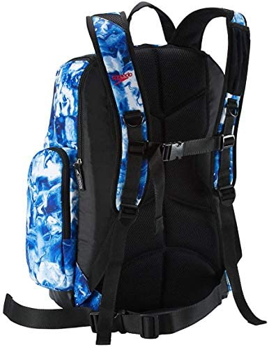 Speedo Large Teamster Backpack 35-Liter, White/Blue, One Size