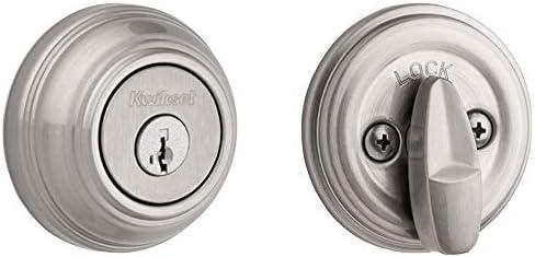 Kwikset 980 Single Cylinder Deadbolt Featuring SmartKey in Satin Nickel