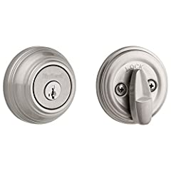 Step up to designer styles and superior security with Kwikset Signature Series products. The 980 deadbolt series is both tough and attractive. This single cylinder deadbolt is operated by a key on the outside or a thumb turn on the inside. La...