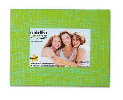 Embellish Your Story Green and Teal Frame Magnet - 4'' X 6'' - Embellish Your Story Roeda