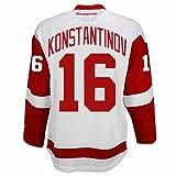 Vladimir Konstantinov Detroit Red Wings Road Jersey by Reebok, Red, Small