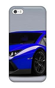Alex D. Ulrich's Shop Lovers Gifts Flexible Tpu Back Case Cover For Iphone 5/5s - Lamborghini Aventador Blue 5165279K11395084