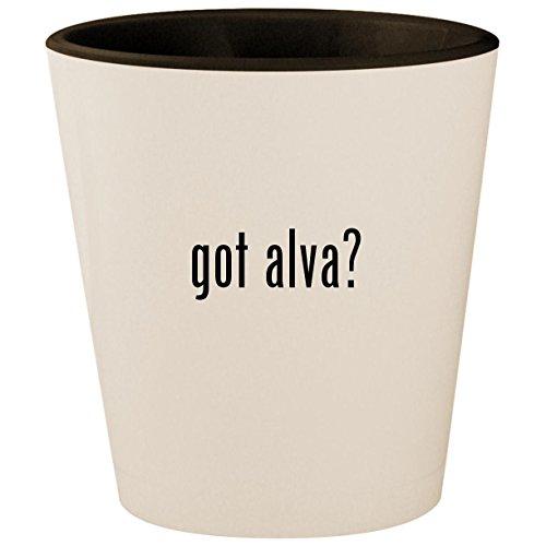 (got alva? - White Outer & Black Inner Ceramic 1.5oz Shot Glass)