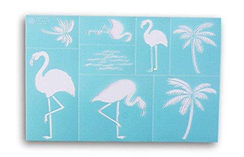 Martha Stewart Crafts Flamingo Style Laser-Cut Stencil - 12 x 7.75 Inches by Plaid