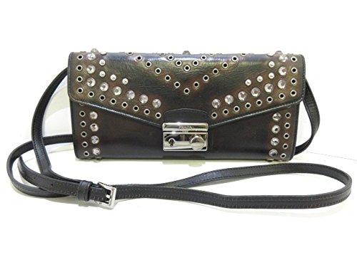 (プラダ) PRADA 財布 黒×ダークブラウン×マルチ 1M1290 【中古】 B07F14BS2R  -