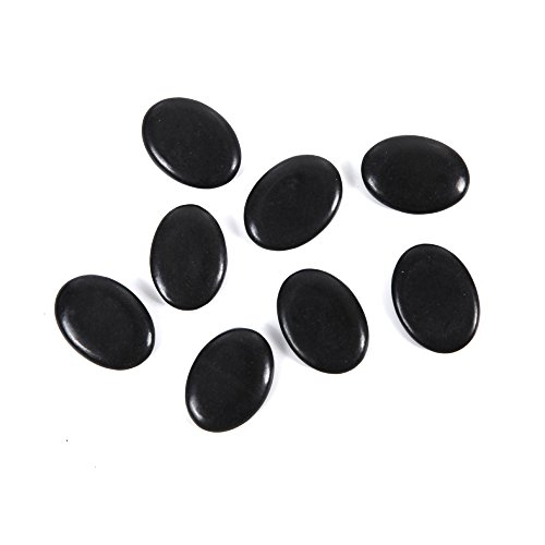 Aboval 20Pcs Professional Massage Stones Set Natural Lava Basalt Hot Stone for Spa, Massage Therapy by Aboval (Image #3)