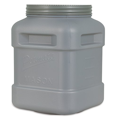 Petmate Mason Jar, Stores Food Up to 40-Pound (40 Lb Storage)