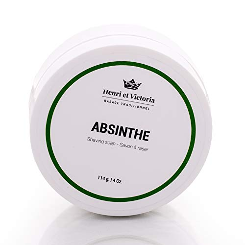 - Shaving Soap for Men | Absinthe Wet Shave Soap Fragrance | Made by Skilled Artisans | Ultra Glide, Cushioning, Easy Lather, Moisturizing | Chic and Subtle Scent | 4 oz
