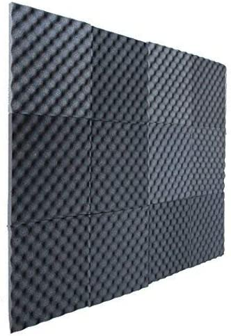 "1""x12""x12"" Ei Crate Foam Acoustic Foam Tiles Soundproofing Foam, 12 Pack"